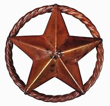 Metal Lone Barn Star Texas TX Wall Decor Farm Rustic Rope Country Western