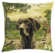 Pointer Dog Pillow Cover - Pointer Dog Gift - Belgian Tapestry Cushion Cover