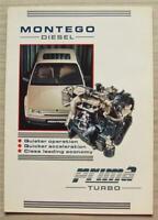 ROVER MONTEGO DIESEL PERKINS PRIMA TURBO Car Sales Brochure 1991 #195/2/91