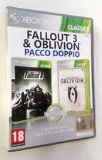 Fallout 3 - The Elder Scroll IV Oblivion - XBOX 360 - 2 Giochi Completi