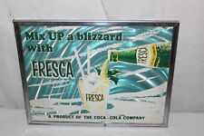 Vintage 1960's Fresca Coca Cola Soda Pop Bottle Gas Oil Sign