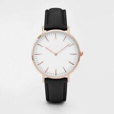 Modische Neue Damen Herren beiläufige Armbanduhr Quarz analoge einfache Uhr #AC
