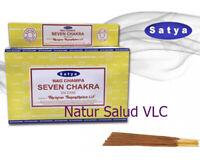 Incienso Seven Chakras_Satya_12 cajitas de 15g _Incense_OM_Meditación_Bhuda