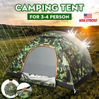 Camping Tent 4 Person Camouflage Waterproof Hiking Outdoor Portable Automatic