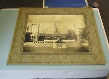 1950's Honesdale Pennsylvania Holiday Display Matted Photo Canned Fruits 11x13