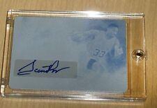 2015 Leaf Q authentic autograph card print plate CYAN 1/1 Scottie Pippen