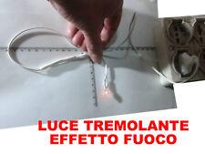 luce Lampada Piccola Effetto fiamma Fuoco forno Presepe gia 15 crib