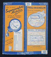 Carte MICHELIN n°21 BASEL St GALLEN SUISSE 1927 map Mapa Bibendum pneu guide