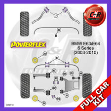 BMW E63/E64 6 Series (2003 - 2010) Rear Subframe Inserts Powerflex Full Bush Kit