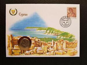 """Numisbrief Vereinte Nationen """"Cyprus"""" + 5-Cent-Münze"""