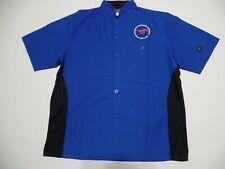 Men's Smu Chef's coat Shirt Uniform Short Sleeve by Happy Chef sz M Nwot