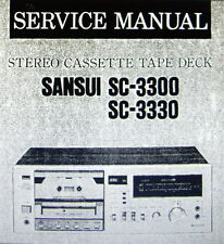 SANSUI SC-3300 SC-3330 ST CASSETE TAPE DECK SERVICE MANUAL INC SCHEMS ENGLISH