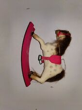 Vintage Gladys Boalt Handmade Soft Sculpture Christmas Ornament Rocking Horse