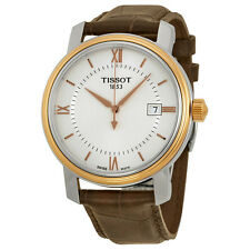 Tissot Bridgeport Silver Dial Brown Leather Mens Watch T0974102603800