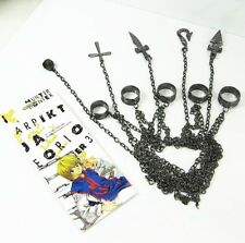 Anime Hunter X Hunter Kurapika 5-Ring-Chains Punk Style Metal Bracelet