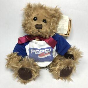 Vintage Russ Berrie Gregory Teddy Pepsi Bear Designed By Carol Lynn Rossel Waugh