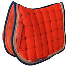 Horse Cotton Quilted All Purpose ENGLISH SADDLE PAD Trail Contoured Orange 72F37