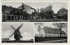 Alt-Bötzow b. Velten (Kreis Osthavelland), 3-Bild-Ansichtskarte ungebr. um 1940