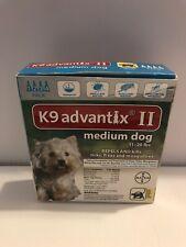 Bayer K9 Advantix II Tick & Mosquito Prevention for Medium Dogs 4 Dose Box