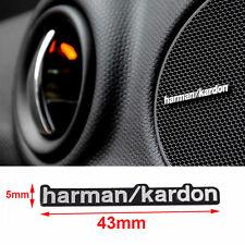 6 x Harman Kardon 3D Auto hi-fi Speaker Stereo Aluminum Badge Emblems Stickers