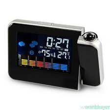 Digital Alarm Clock with Color Screen Projection LED Clock Table Morning Clock W