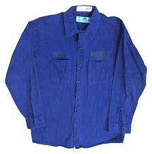 Red Kap Men Industrial 100% Cotton Work Shirt Navy Dark Light Blue Khaki Gray