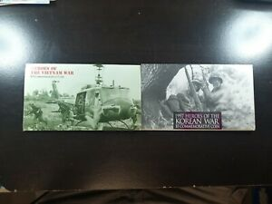 1995 $5 Heroes of the Korean War & Heroes of the Vietnam War coins (Lot of 2)