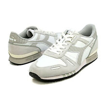 Men Diadora Titan White Leather Sneakers Casual Trainers 501 160354 NEW