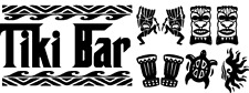 Tiki Bar Wall Decal Vinyl Sticker Or your own bar name