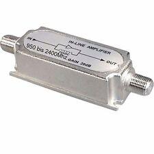 z SAT TV In-line Satelliten Signal Leitungs Verstärker +20dB 3d HDTV 950-2400MHz