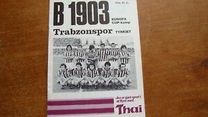 B1903 v TRABZONSPOR SEPTEMBER 1977
