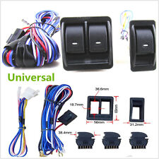 12V Universal Car SUV Power Door Window Glass Lift Switch Harness Cable Sets Kit