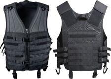 Black Tactical MOLLE Modular Zip Vest Waterproof Airsoft Paintball