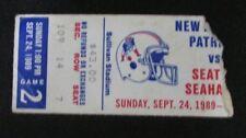 1989 Seahawks vs. Patriots Ticket Stub 127660