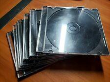 Lot of 10 CD and DVD Slim Jewel Cases Black