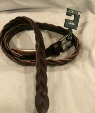 Joe's Accessories Joe's Jeans Brown Braided Leather Belt Size 40 NWT