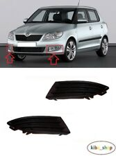 SKODA FABIA 2010 - 2015 NEW FRONT BUMPER LOWER FOG GRILL COVER LEFT + RIGHT