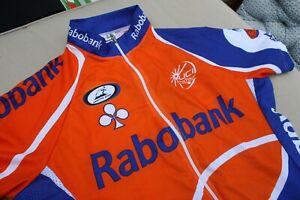 Rabobank Men's Small Road Bike Cycling Jersey Used