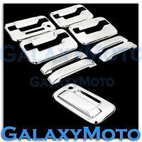 04-14 Ford F150 Overlay Chrome 4 Door Handle+keypad+no PSG KH+Tailgate Cover Kit