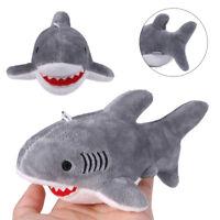 Mini Shark Soft Animal Plush Toys Charm Key Chain Ring Phone Bag Pendant Gifts