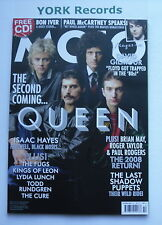 MOJO MAGAZINE - October 2008 - Queen / Isaac Hayes / David Gilmour / Bon Iver