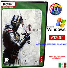 KNIGHTS OF THE TEMPLE 2 PC DVD @ WINDOWS NUOVO ITALIANO