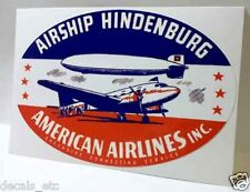 American Airlines Hindenburg Vintage Style Decal / Vinyl Sticker, Luggage Label