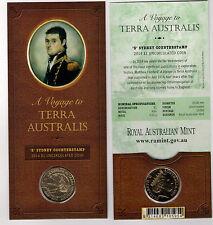 2014 RAM $1 UNC A Voyage to Terra Australis S Counterstamp