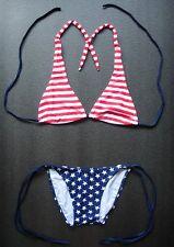 USA BIKINI Red White & Blue Swimming Costume Swimsuit Ladies Swimwear Clothing