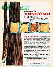 publicité advertising    1967   FERMETURES  VENDOME   volets portes de garage