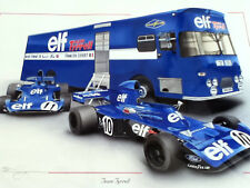 Francois CEVERT JACKIE STEWART ELF Ken Tyrrell 006 005 004 F1 TEAM