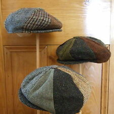 Harris Tweed Patchwork Newsboy Baker Gatsby Peaky Cap Hat.S,M,L,XL,XXL.8-piece