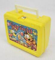 Garfield Lunchbox by Thermos Brand Plastic Collectible Vintage Lunch Box