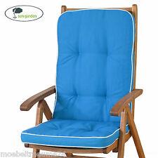 Auflagen für Hochlehner Gartenstuhl Sessel hoch Sun Garden Tomiro 50077-131 blau